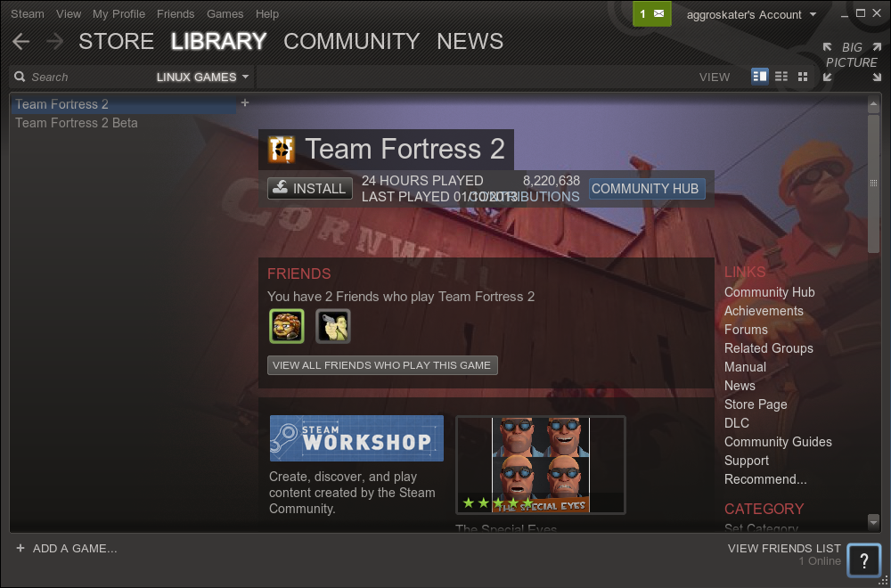list-of-linux-games-in-steam-showing-tf2-uninstalled